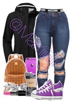 When I don't get up at all and got to throw something on when i do by marriiiiiiiii on Polyvore featuring polyvore, fashion, style, The North Face, HUF, Moschino, MCM, Blue Nile, Bling Jewelry, Smashbox and clothing