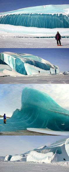 Magnificent frozen waves. Just to see this in person would be something spectacular :)