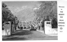 Entrance Gate to the Desert Inn, Palm Springs, Palm Springs California, Entrance Gates, Mecca, Places To Go, Deserts, History, 1940s, Outdoor, Beauty