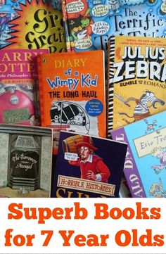 Superb books for 7 year-olds. A mixture of fiction and non-fiction recommendations that 7 year olds will love!