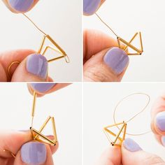 Geometric With This Modern Jewelry DIY - -Get Geometric With This Modern Jewelry DIY - - Accessorize your space with a glittering glass garland. Get Geometric With This Modern Jewelry DIY Jewelry Kits, High Jewelry, Modern Jewelry, Jewelry Crafts, Beaded Jewelry, Jewelry Bracelets, Handmade Jewelry, Jewelry Making, Jewelery