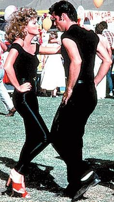 Everyone's favourite scene in Grease when Olivia Newton John wows John Travolta with her stunning transformation!