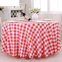 The Style Of Hotel Tablecloth A Picnic,Table Cloth Restaurant Tablecloths,Multi Color  Plaid Round Tablecloth C