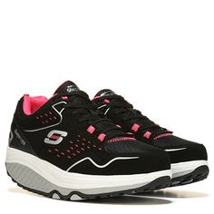 0e04a4a63ad Skechers Shape Ups 2.0 Every Day Comfort Walking Shoe Black Hot Pink Skechers  Shape Ups