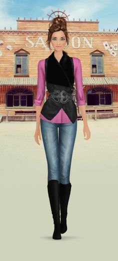 Covet Fashion Game   Daily $500   Western Showdown   Voting Results 2.97   Unworn Items +0.30   Spring 2014 Items +0.09   Total ⭐️ 3.36   Just about had it with this game!! LOL! Still here 8 Jul 2014 with a closet nearing $600,000!!