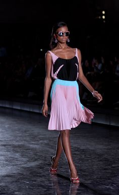 Prada Spring/Summer 2012.  Love this whole outfit, including the sunglasses!