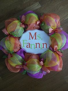 Teacher wreaths...it even says my name! :) That's crazy :)