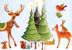 Christmas 3D XXL folding card for a cute by MarquisWonderland