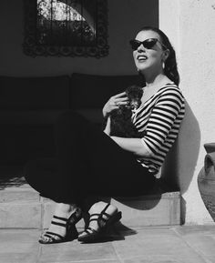 debi mazar #beautiful #stripes