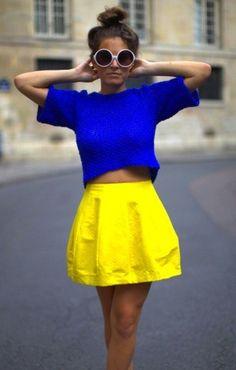 Kleur tegen kleur - Blauw en geel zijn 2 kleuren die tegenover elkaar staan
