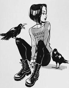 Imagen de raven, teen titans, and art Teen Titans Raven, Teen Titans Go, Character Inspiration, Character Art, Illustrations, Illustration Art, Comic Art, Art Sketches, Art Drawings