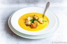 Картофельный суп-пюре (веганский, рецепт моего сына)