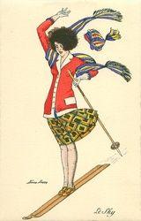 Vintage Winter - Also see N. Art Deco Illustration, Magazine Illustration, Vintage Winter, French Vintage, Decoupage, Art Deco Artists, Vintage Artwork, Vintage Illustrations, Winter Images