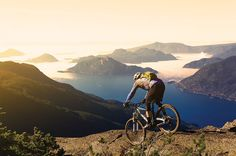 The five passionate riding communities of @tourismsquamish @GoWhistler @tourismpembertonbc @sunshinecoastbc and @bridgerivervalley deliver endless trail options that take riders through rugged forests towering mountains and stunning coastline.  @christieimages
