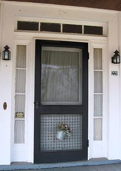 I Want A Screen Door On My Tiny House. Hardware Cloth Added To Bottom Of  Door Prevents Dogs From Damaging The Fine Mesh.
