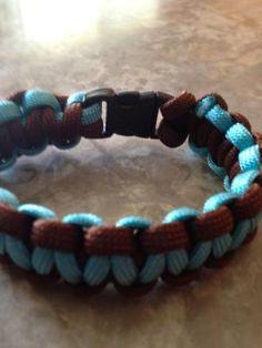 Brown & Turquoise paracord bracelet