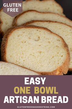 Super easy, one-bowl artisan bread that's gluten free! This recipe turns out delicious bread that is perfect for everyday sandwiches, bread crumbs or to be cubed and served in a hot bowl of your favorite soup. This is one of the best go-to gluten free breads that can be made with ease. Try it today! #glutenfree #glutenfreebread #artisanbread #onebowlrecipe Gluten Free Flour Blend Recipe, Gluten Free Pita Bread, Gluten Free Artisan Bread, Oat Flour Recipes, Bread Maker Recipes, Gluten Free Baking, Vegan Gluten Free, Baking Recipes, Dairy Free