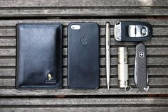 Leather Wallet (for cards & documents) iPhone in