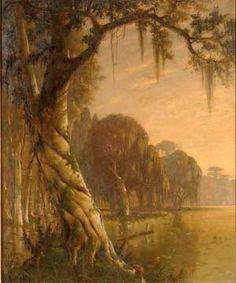 This bayou is in south Louisiana and runs through, for one, the town of New Iberia. The town and bayou are mentioned frequently in literature about the region. New Iberia, Water Movement, Louisiana, Fisher, Joseph, Literature, Master Art, Landscape, American
