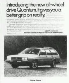 Remember the VW Quantum?