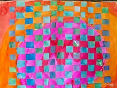 Waitsfield Elementary Art: weaving cool colors and warm colors