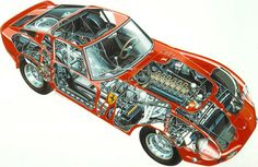Ferrari 250 GTO cutaway... a look under the bonnet!