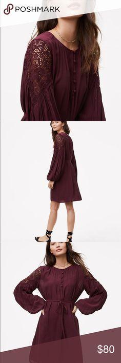 🌿LOFT DRESS🌿 ✨Lace shoulder shirtdress✨  🌸NWT🌸 LOFT Dresses