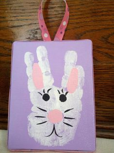 Handprint bunny-Fun Easter craft