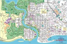 Map of the The Town of Springfield From The Simpsons