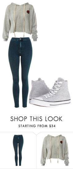 """Untitled #306"" by thenerdyfairy on Polyvore featuring Topshop, Sans Souci and Converse"