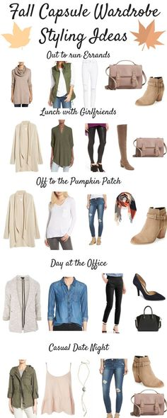 Fall Capsule Wardrobe 2017 Styling Outfit Ideas by PinterestingPlans