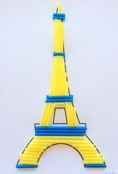 Our Worldwide Classroom: France ~ The Eiffel Tower Daycare Crafts, Preschool Crafts, Diy Crafts For Kids, Projects For Kids, Summer Camp Crafts, Summer Activities For Kids, Camping Crafts, Around The World Crafts For Kids, Art For Kids