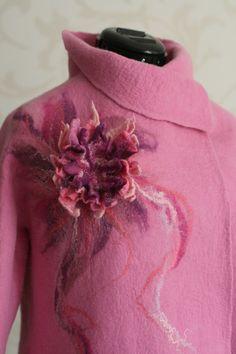 Nuno felted jacket OOAK wool and silk felted by VERAALEXANDEROVA