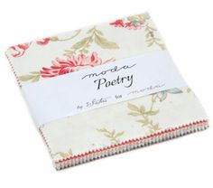 """Poetry Floral~ Cotton Fabric~Charm Pack, 42~ 3 1/2"""" squares~by Moda Fast Shipping, CP390"""