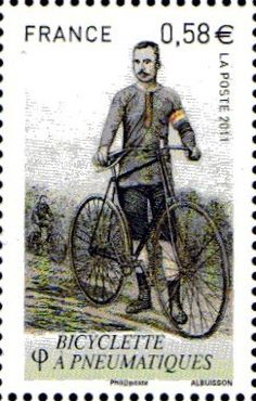 Timbre en hommage à la bicyclette à pneumatiques, 2011, France