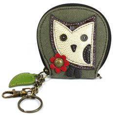 Chala Mini Coin Purse -  Owl at The Handbag Store.  Size:  4 x 0.75 x 4 in  Zip Closure. Shop in store at 253 Main St, Hill City SD or online at www.shopthehandbagstore.com