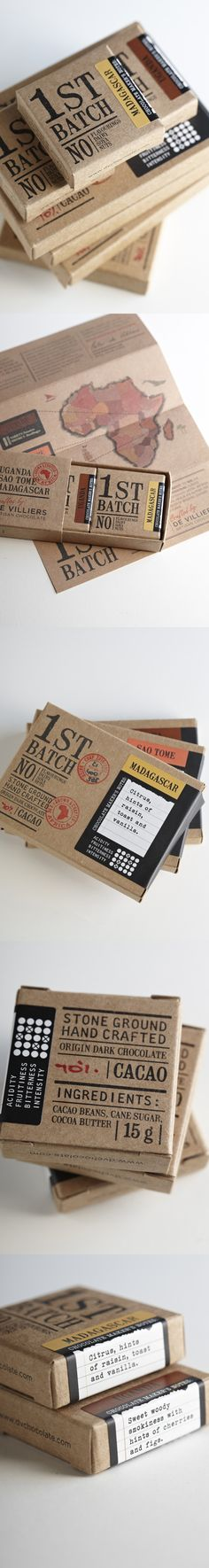 1st Batch Chocolates by Jane Says. Repinned by www.strobl-kriegner.com #branding #packaging #design #creative #marketing