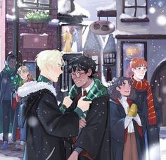 Read Drarry (Headcanons e imágenes) from the story DRARRY & WOLFSTAR by with reads. one-shot, ronweasley, drarry. Harry Potter Fan Art, Fans D'harry Potter, Harry Potter Comics, Harry Potter Ships, Harry Potter Pictures, Harry Potter Fandom, Harry Potter Characters, Harry Potter Hogwarts, Harry Potter Memes
