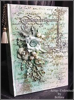 Scrap-Unlimited: Mixed media   Love the texture on this.                                                                                                                                                      More