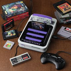 Hyperkin RetroN 5 Gaming System<strong> </strong>The ultimate system for an old-school gamer 5 cartridge slots: NES, SNES, Genesis, Famicom, Game Boy Advance Give classic games new life with audio & video upscaling #gadget #cool tech gadgets #cool #tech #technology #gameboy #nintendo #android #FF #electronic