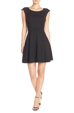 French Connection 'Whisper Light' Fit & Flare Dress available at #Nordstrom