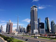 Bright crisp morning in Dubai