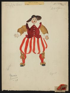 I love this costume for Grumio; I think it captures the character very well
