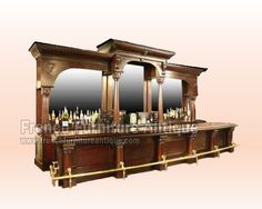 Antique French Vintage Bar Table