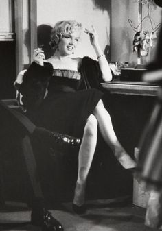 Marilyn Monroe in a little black dress
