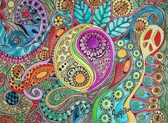 zentangles--This one is beautiful! It makes me want to post some of my Zentangles. Great to work on when waiting in a dr's. office, etc. as a time filler/stress reliever! ;>)