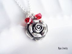 Roses Are Red Necklace by NgocJewelry
