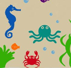 Under+The+Sea+WALL+DECAL+by+PlanetWallArt+on+Etsy,+$100.00