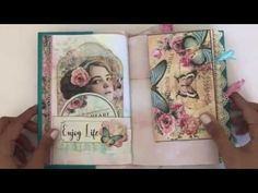FOR SALE: Collaged Rose Junk Journal (Dreamzetc)
