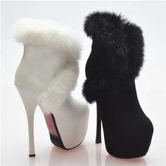 73.67$  Watch here - http://ali2o1.worldwells.pw/go.php?t=32786493912 - New 2015 Women Luxury Rabbit Fur Sexy Ankle Boots Fashion Ladies Thin High Heel Snow Boots Winter Boots Shoes Woman H5980